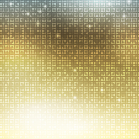 Golden vector background. Vertical mosaic with light spots