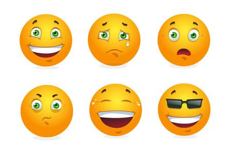 Vector Reihe von Emoticons. Vektor