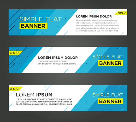 Banner line design. Vector Stock Illustratie
