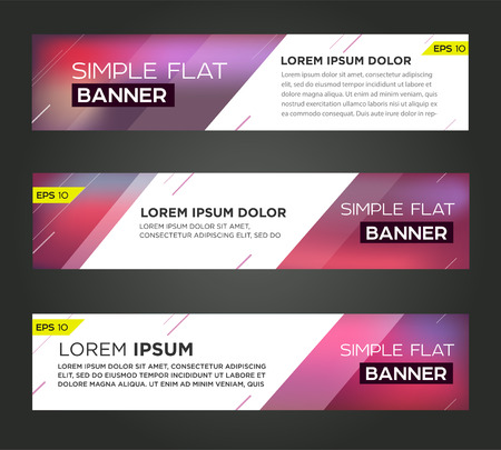 Abstract banner line design . Vector