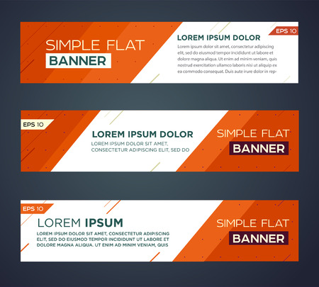 Abstract banner line design . Vector Stok Fotoğraf - 40980940