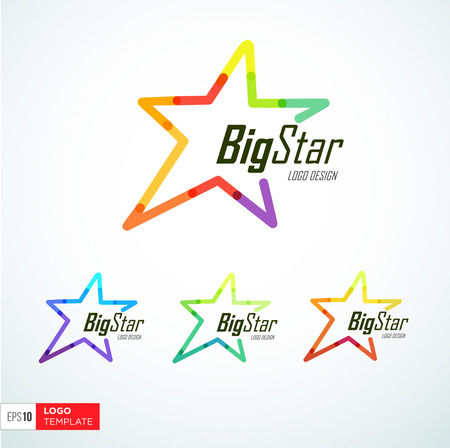 star logo: Concept logo template. Vector Symbol. Trendy colors