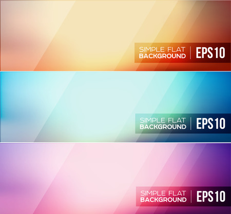 Set of flat gradient background.  Vettoriali