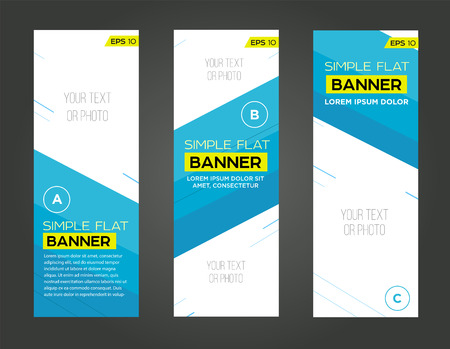 Abstract banner line design .