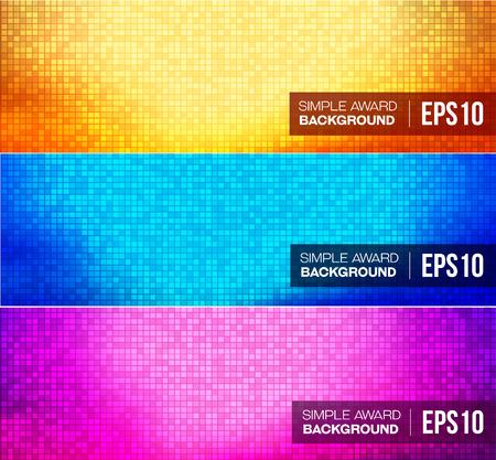 Set of disco gradient background. Vector