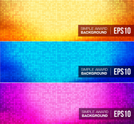 Set of disco gradient background. Vector