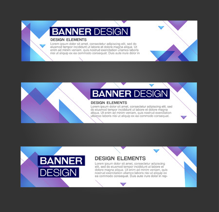 triangular banner: Abstract banner line design . Vector