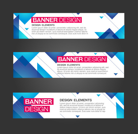 Abstract banner triangle line design . For bussines, danceparty, promotion. Web and print. Vector template Vectores