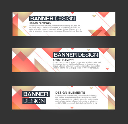 web banner: Abstract banner triangle line design. For bussines danceparty promotion. Web and print. Vector template
