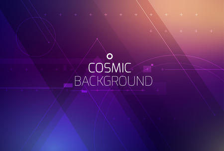 Cosmic shining vector abstract background. Science, disco, party. Print, video. Stock Illustratie