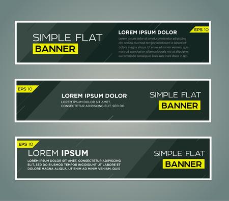 vector banner: Abstract banner line design . Vector
