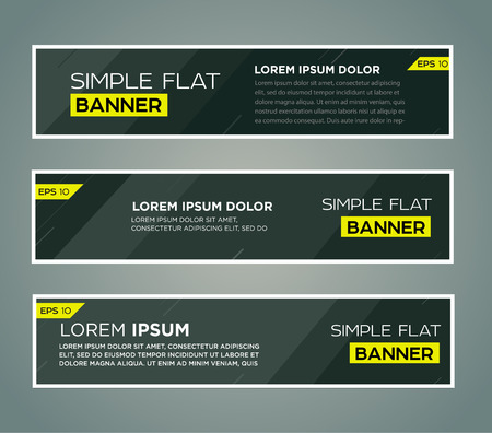 BANNER DESIGN: Abstract banner line design . Vector
