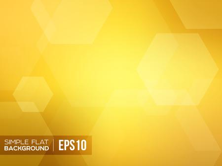 Simple flat gold gradient background. Vector bokeh
