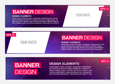 Abstract banner line design. Vector. Disco, nighclub, disco, DJ Imagens - 42133507