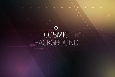 Cosmic shining vector abstract background. Science, disco, party. Print, video. Ilustrace