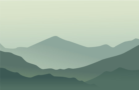 peaceful background: Mountains shiluette. Vectior background for hipster label