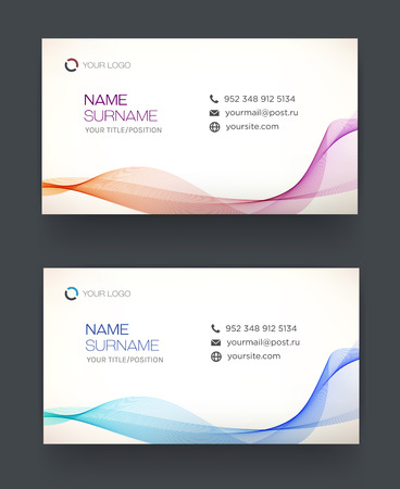 blank business card: Business card template, blue pattern vector design editable. Personal card.