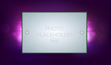 game show: Abstract fantasy background with photo frame. Game disco dance show. Site landing and presentation