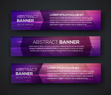 Abstract banner design. Vector. Disco nighclub disco DJ. Cosmic HUD sci-fi interface. Science news sport. War online games Ilustrace