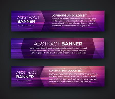 Abstract banner design. Vector. Disco nighclub disco DJ. Cosmic HUD sci-fi interface. Science news sport. War online games Vectores