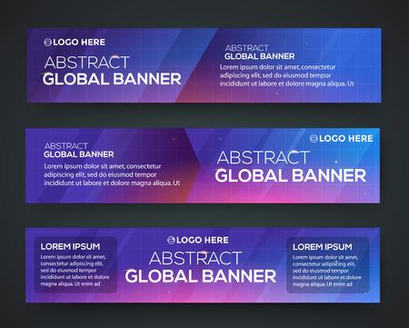 globális üzleti: Abstract banner design. Vector. Disco nighclub disco DJ. Global business
