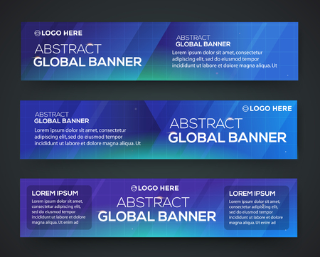Abstract banner design. Vector. Disco nighclub disco DJ. Global business