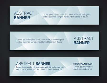 Abstract banner design, gradient polygonal style. Vector Stok Fotoğraf - 44230764