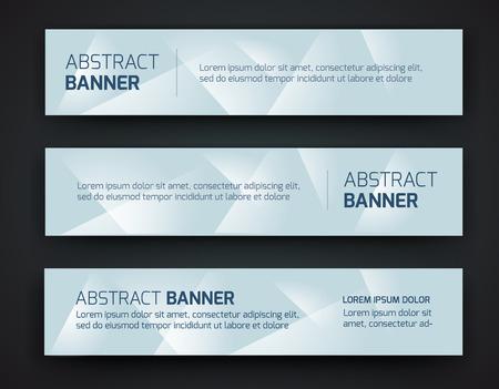 Abstract banner design, gradient polygonal style. Vector Vectores