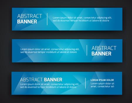 Abstract bannerontwerp, gradiënt veelhoekige stijl. Vector
