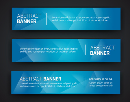 Abstract banner design, gradient polygonal style. Vector Illustration