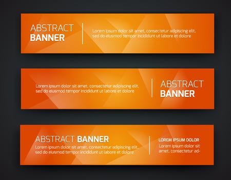 naranja: Diseño abstracto de la bandera, el estilo poligonal degradado. Vector