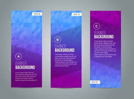 spruchband: Abstrakt Banner-Design, Steigungsdreieck Stil. Vektor Illustration