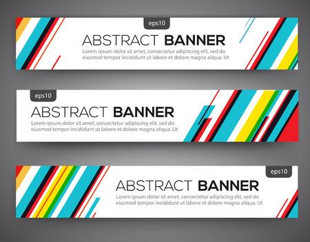 Abstract bannerontwerp, veelkleurige lijnstijl. Vector