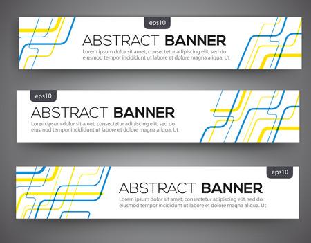 Abstracte banner ontwerp, rode en blauwe kleur lijn stijl. Vector