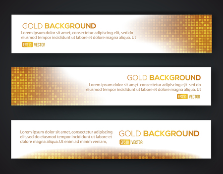 Gold sale banner set. Luxury gold. Vector eps 10