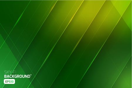 green lines: Sci-fi vector abstract background. Science nature ecologic. Print, video Illustration