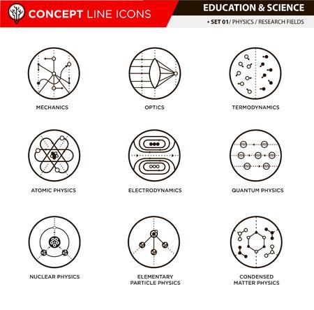 apalancamiento: la teor�a de la ciencia f�sica y de los campos de investigaci�n iconos de l�neas b�sicas en fondo blanco aislado utilizados para la ense�anza escolar y universitaria y la decoraci�n documento,