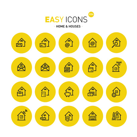 guarding: Easy icons 03c Home Illustration