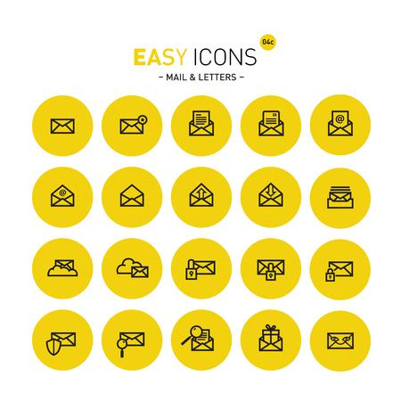 unread: Easy icons 04c Mail Illustration