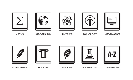 Vector Set of School Icons. Illustration