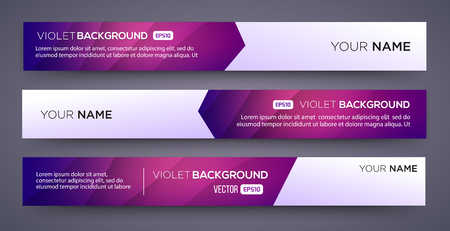 geometric lines: Abstract Banners with violet background