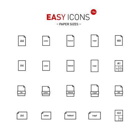 printing house: Easy icons 15a Papers. Illustration