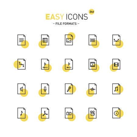 avi: Easy icons 24d Files Illustration