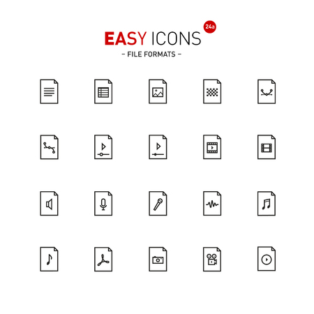 datasheet: Easy icons 24a Files