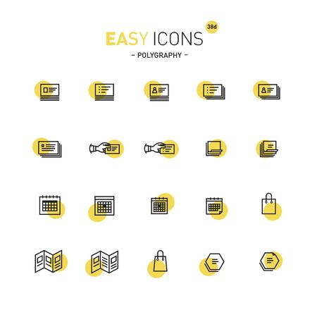 Icone facili 38d poligrafia