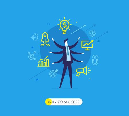 Businessman development startup