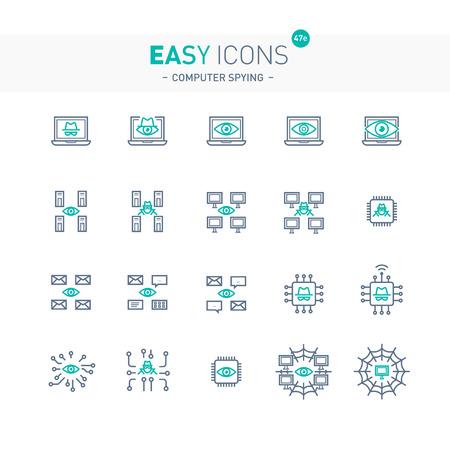 Easy icons 47e Computer spying Ilustração