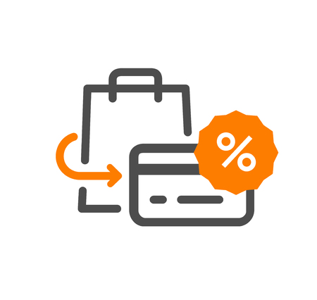 Flat line design concept icon purchase returns , support, purchase process, online order procedure, website banner and landing page.