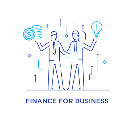 Businessmen shake hands with each other. Virtual communication smartphone. Cooperation interaction. Vector illustration Eps 10 file. Success, Cooperation. line icon illustration