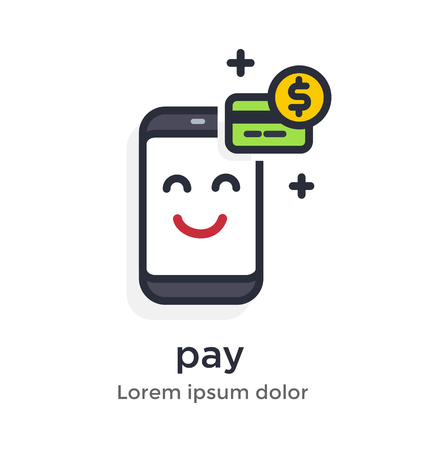 Emotion phone earnings, money, withdrawal, transfer, funds, dollar, payment, operation , bank, account illustration Icon Landing page site print poster video animation